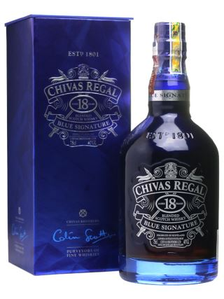 WHISKY CHIVAS 18 BLUE SIGNATURE