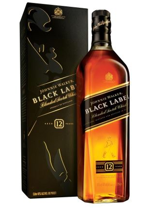 WHISKY JOHNNIE WALKER BLACK LABEL 1Lit