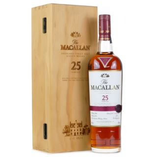 WHISKY SCOTLAND MACALLAN 25 NĂM SHERRY OAK