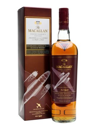 WHISKY MACALLAN MAKERS EDITION 1930S PROPELLER PLANE