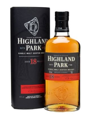 WHISKY SCOTLAND HIGHLAND PARK 18 NĂM