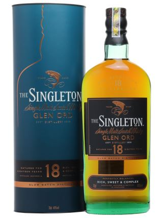 WHISKY SINGLETON 18 of GLEN ORD